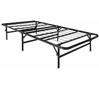Twin Size LUCID Foldable Metal Platform Bed Frame and Mattress Foundation Alexandria, 41001