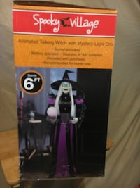 Halloween animated talking witch New York, 11206