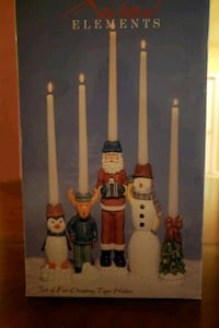 'Seasonal Elements' Set of Five Christmas Taper Holders  Kingsville, 21087