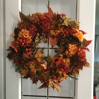 red and green flower wreath Bowmanville, L1C 4P2