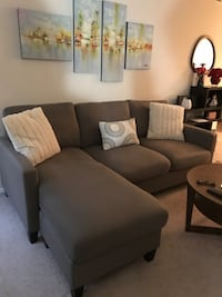 Sectional Sofa - $325 (Taupe Color) Germantown, 20874
