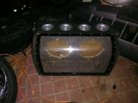 black and gray sub woofer box Westford, 01886