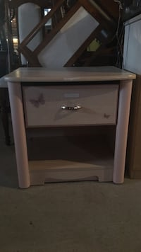 Beige wooden side table with drawer Georgina, L4P 0A2