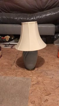 White and blue table lamp Billerica, 01821