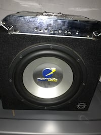 black and gray subwoofer speaker East Zorra-Tavistock, N0B 2R0