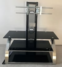 smoked glass TV stand with mount EDMONTON