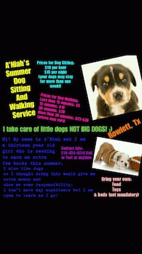 A'Niah's Summer Dog Sitting and Walking Services Rowlett, 75089