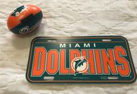 Miami Dolphins Soft Football and Plastic Sign Chantilly, 20152
