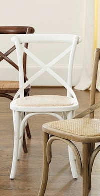 4 white dining room chairs