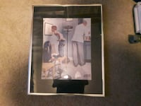 black wooden framed photo of baseball player