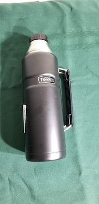 Thermos Stainless King 40 Ounce Beverage Bottle, Matte Black Las Vegas