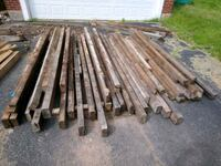 Old Hemlock beams from an early 1800's home Hellertown