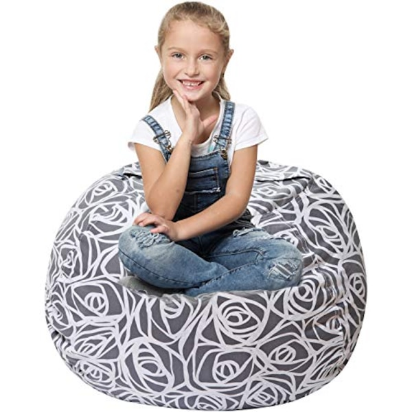 Marvelous Gain 5 Stars United Stuffed Animal Storage Bean Bag Large Beanbag Chairs For Kids 90 Plush Toys Holder And Organizer For Boys And Girls 100 Cjindustries Chair Design For Home Cjindustriesco