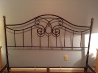 King size ornate metal headboard and frame Beverly Hills