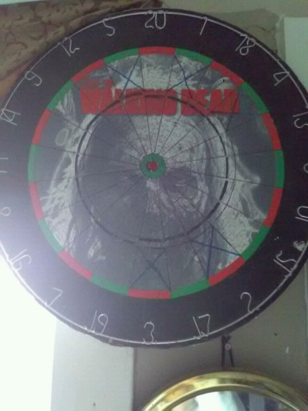 The walking dead Dart board