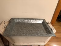 Galvanized metal tray with handles Wheaton, 60187