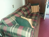 white, green, and red plaid fabric sofa Campbell, 44405