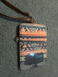 brown and black tribal card pocket Riverton, 62561