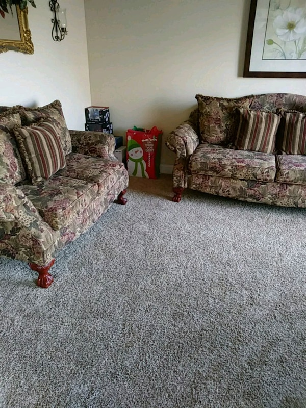 Magnificent Used Brown And Gray Floral Sofa Set For Sale In Semmes Letgo Gmtry Best Dining Table And Chair Ideas Images Gmtryco