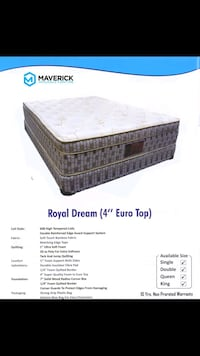 royal dream  4 inch pillow with hi tempered coils  Mississauga, L4W 4E8