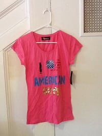 Pink size L shirt new with tags Romeo and Me brand 50 mi