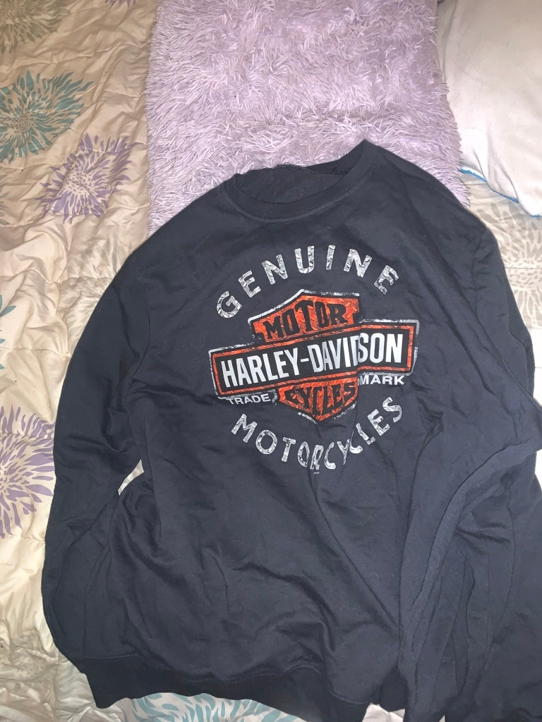 Photo Mens Gray Harley Davidson Sweatshirt