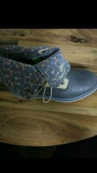 pair of blue suede boots Washington