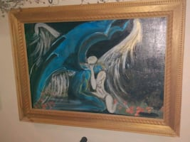 Original Fallen angel painting