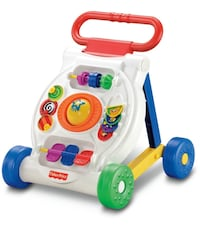 White and blue fisher-price learning walker Jersey City, 07302