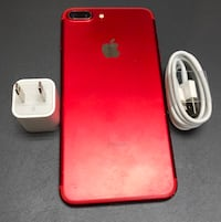 Product Red iPhone 7 plus with charger New York, 10036