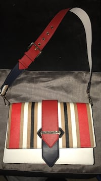 red and white striped leather crossbody bag Stratford, N5A 6E6