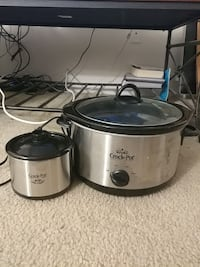 two gray and black Rival Crock-Pot slow cooker 21 km