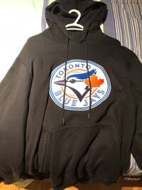 black and white pullover hoodie Kitchener