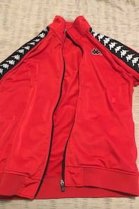 Large red men's kappa sweater Whitby
