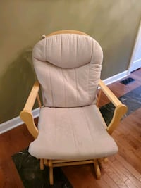Glider, chair and ottoman