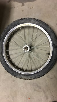 "Black and gray bicycle wheel 12 7/8"" Bakersfield, 93308"