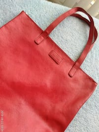 women's red leather tote bag Silver Spring, 20910