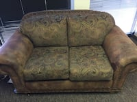 brown and beige floral loveseat Tempe, 85282