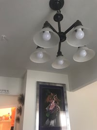 white and black uplight chandelier Clinton, 20735