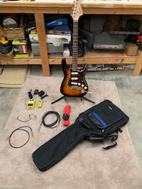 Fender Squire Affinity Stratocaster with accessories