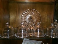 four clear glass candle holders Houston, 77045