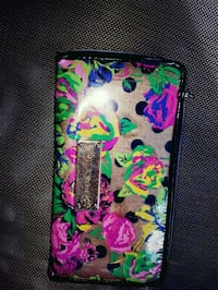 multicolored floral Betsy Johnson long wallet Kelowna, V1Z 3G2