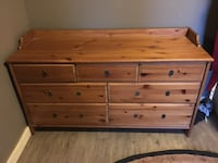 brown wooden 6-drawer lowboy dresser Vancouver, V5T 2L8