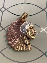 14k Gold Plated Indian Pendant