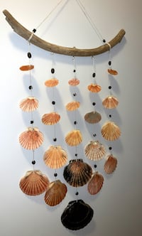 Large wind chime sea shell wall decoration