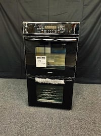 Black double wall oven