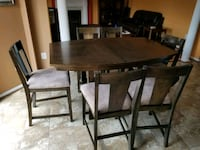 rectangular brown wooden table with four chairs dining set Ashburn, 20148