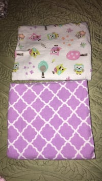 two purple and pink printed fabric covers Acworth, 30102
