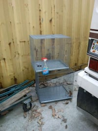 blue and white pet cage Star Tannery, 22654