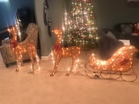 Outdoor or indoor reindeer and sled light up Christmas decoration Hanover, 21076